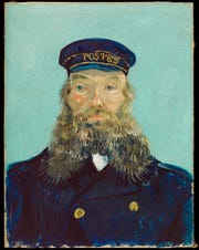 """Portrait of Postman Roulin,"" 1888, Vincent van Gogh, Dutch; oil on canvas."