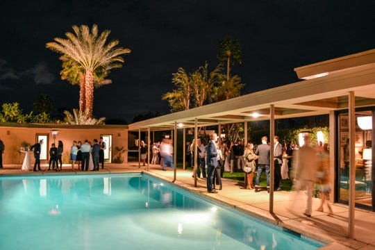 The Sinatra House during Modernism Week. Tickets go on sale starting August 1 for the fall preview event, but numerous midcentury tours are available all summer.