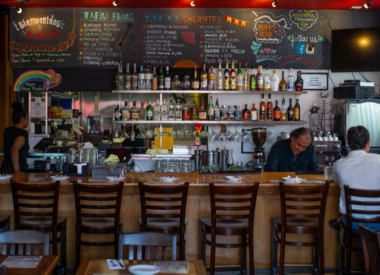 A view of La Feria Spanish Tapas in Detroit's Midtown neighborhood on Tuesday, June 25, 2019.