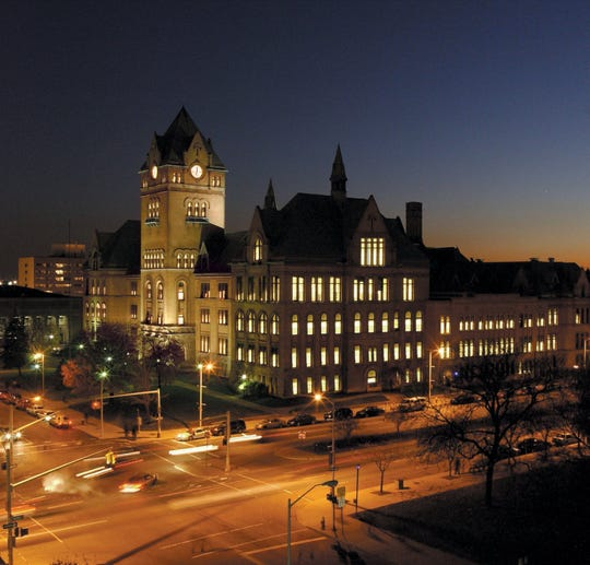 The Old Main building at Detroit's Wayne State University.