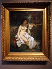 """Bather Sleeping by a Brook"" at the Detroit Institute of Arts on Friday, Aug. 16, 2013."