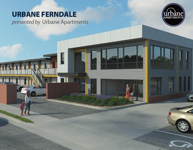 Urbane Ferndale is anticipated to open by fall 2019 at the northwest corner of Woodward Avenue and 8 Mile Road.