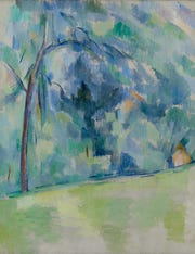 """Morning in Provence,"" about 1900-1906, Paul Cezanne, French; oil on canvas."