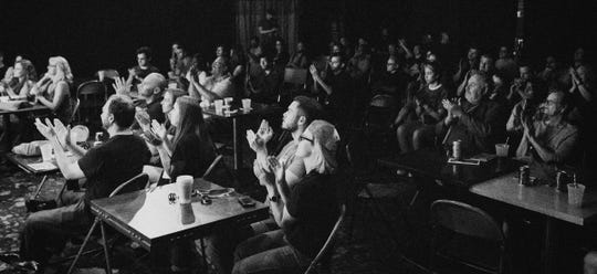 The crowd at the first Vidlings & Tapeheads Film Festival in 2017.
