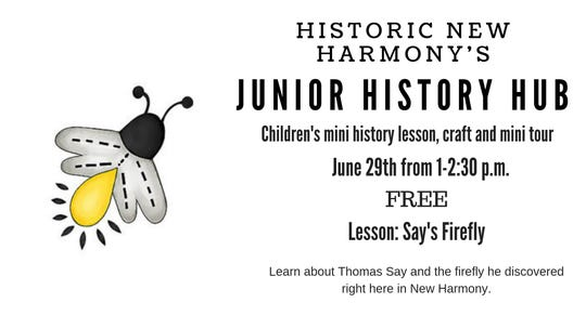 Junior History Hub is Saturday in New Harmony.