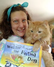 "Crazy Cat Lady Adora Kibble (aka Aimee Blume, Courier & Press food writer and cat rescuer extraordinaire) will be reading animal stories including ""Walter the Farting Dog"" during Crazy Cat Lady Story Hour Friday."
