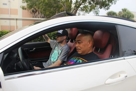 """Cape Coral rapper Colin """"Fame"""" Faiella with his mentor, Fresh Kid Ice of notorious rap group 2 Live Crew"""