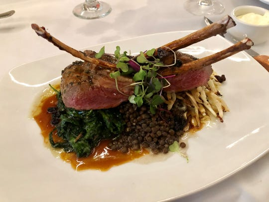 Lamb chops marinated in rosemary and mint from KC American Bistro in Estero.