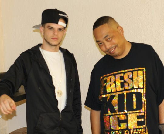 "Cape Coral rapper Colin ""Fame"" Faiella with his mentor, Fresh Kid Ice of notorious rap group 2 Live Crew"