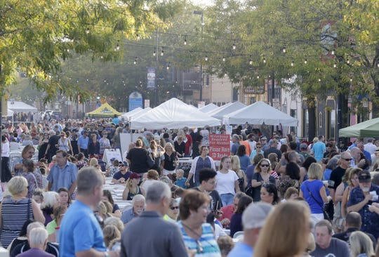 A large crowd turned out for Taste on Broadway in 2017.