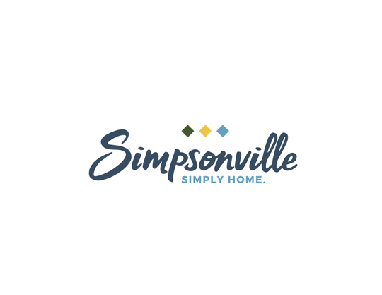 The proposed new logo for the city of Simpsonville, unveiled in June 2019.