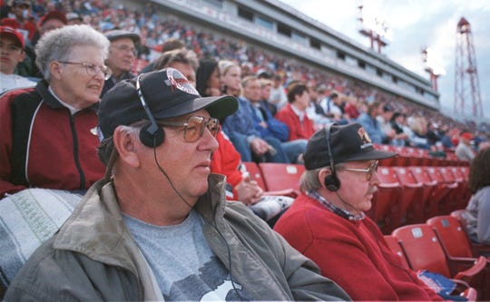 -  Bob Dickenson of Great Falls, left, is the father of CFL head coaches David and Craig Dickenson. Bob and his pal Ken Nordquist of Great Falls watched Calgary play in 1999 in this Great Falls Tribune file photo.