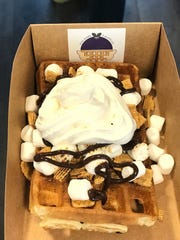 "The ""Happy Camper"" waffle"