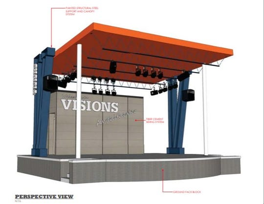 Visions Federal Credit Union proposes building an amphitheater with its new branch.