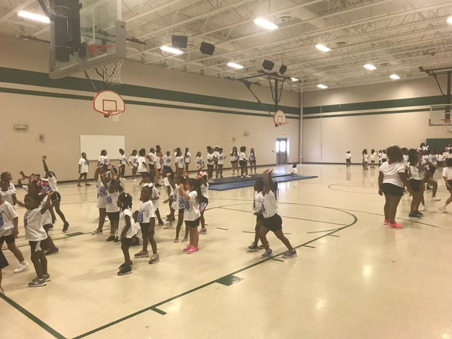 There were 128 campers at the third annual cheer camp held at Isaac Lane Elementary School on Saturday.