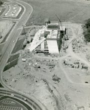 Construction continues on the Hyatt Regency, June 1971.
