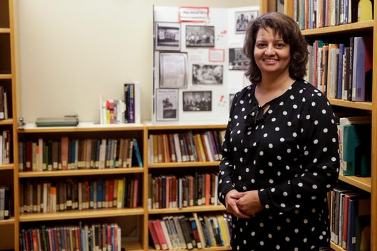 Renee Thomas, director of the Purdue Black Cultural Center, poses for a photo, Wednesday, June 26, 2019 in West Lafayette. The BCC is celebrating its 50th anniversary this year.