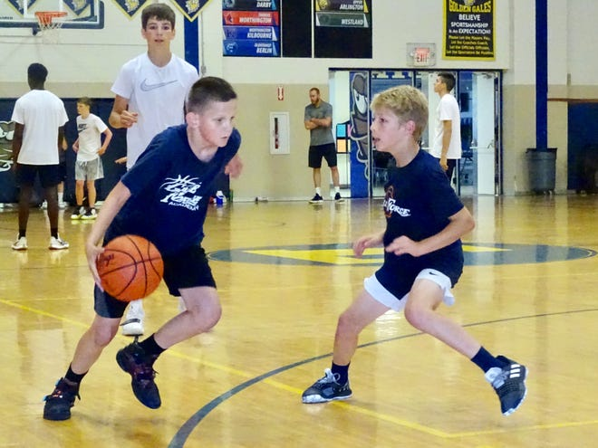 More than 100 campers are attending the Lancaster Gale Force Basketball Camp, which consists of two sessions in the morning and afternoon of grade school and junior high players. The camps is run by Lancaster boys basketball coach Kent Riggs and his staff, as well high school players.