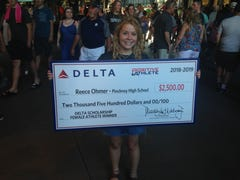 Pinckney golfer honored at Comerica Park as Michigan Positive Athlete winner