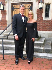 Kelly Miller (left) and wife Shelby (right) at the 2019 Sparrow Foundation's annual Dapper Dads Challenge & Fashion Show on June 6.