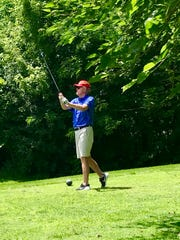 Marion Harding grad and former Ohio State men's basketball starter Al Rowley tees off at the 2019 Marion County Youth Foundation Charity-Celebrity Golf Outing Wednesday afternoon at Marion Country Club.