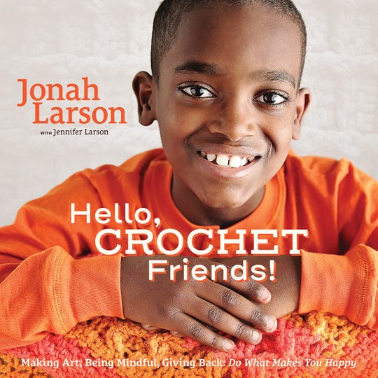 11-year-old crochet prodigy, Jonah Larson, wrote his autobiography along with his mother, Jennifer Larson.