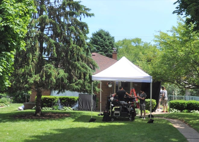 "Film crews are shooting episodes of ""Joe Pera Talks With You"" in a house on Milwaukee River Parkway in Glendale."
