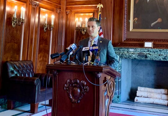 """Sen. Chris Kapenga, R-Delafield, said during a Wednesday news conference that a Milwaukee Journal Sentinel story about his Tesla-related business is filled with """"half-truths"""" spun from opponents to Tesla expansion."""