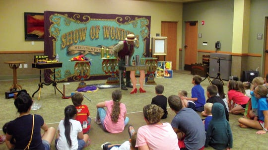 Rocky Clements teaches kids about the history of magicians with a magic show at the Baxter County Library. See Tommy Terrific at 10:30 a.m. June 29.