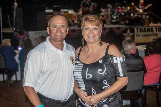 Wetumpka Police Chief Greg Benton and MAMA president Alesia Gilliland at the recent MAMA fundraiser for first responders at Wind Creek Wetumpka.