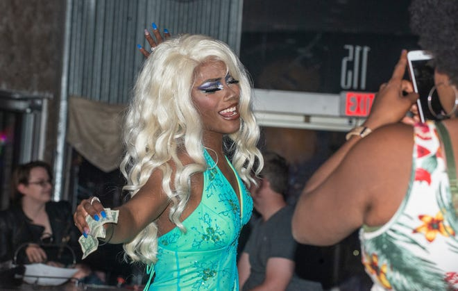 Tokyo Destiny of Pittsburg, Pennsylvania, is a female drag show performer, a role most often held by biological males.