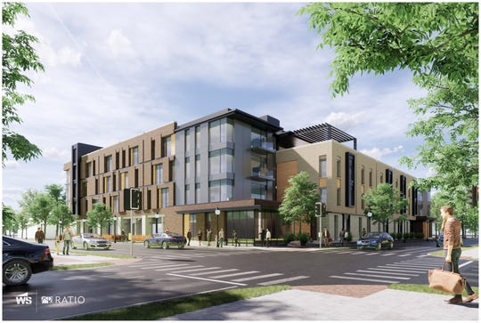 Rendering by WS Property Group of what the apartment complex could potentially look like.
