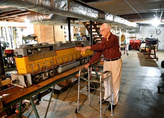 Rocket scientist J. Cary Nettles, 103, enjoys many hobbies, including rebuilding steamer train engines.
