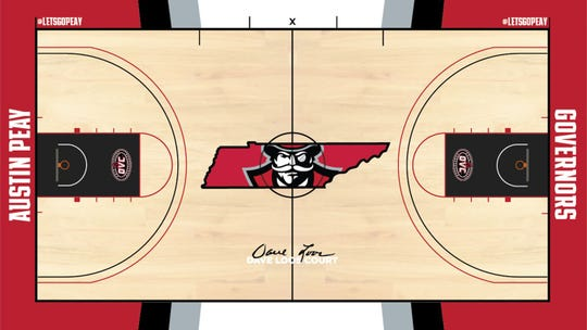 A rendering of the new court at Austin Peay's Dunn Center, which is set to undergo renovations.