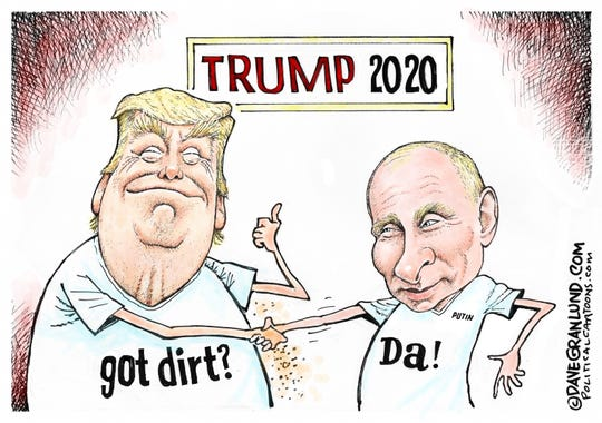 Got dirt? Trump and Putin for 2020.