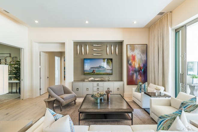 The Bianca model is open for viewing through December in Caminetto at Mediterra.