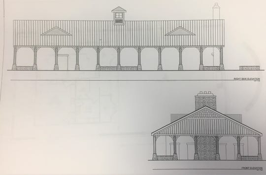 A rendering of the planned pavilion, which will be able to cater to a 250-person event.