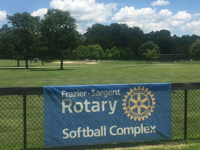 The Raccoon Valley Park pavilion is planned to be located between two ball diamonds and in front of the soccer fields.