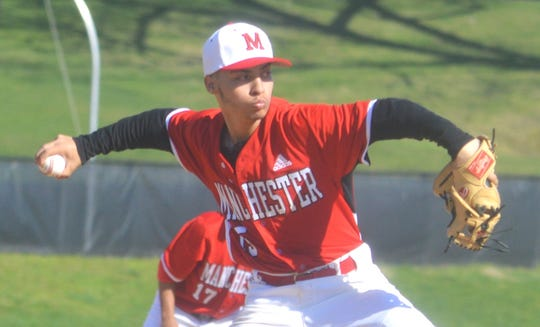 Manchester pitcher Berdover Diaz was one of two Falcons named to the All-Passaic County second team.
