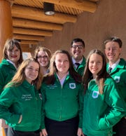 Current New Mexico 4-H state officers include (back from left) Bailey Grady, Katelynn Kenyon, Marco Gutierres, John Wyatt Hemphill, (front from left) Maggie Loudmouth, Anne Hodnett and Cursten Blanton. New Mexico 4-H youth will have the opportunity to elect new state officers as part of the state conference held at New Mexico State University July 8-11.