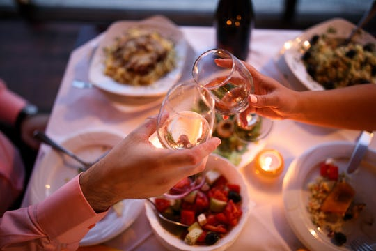 The survey conducted by AskMen.com revealed that 41 percent of men chose a nice dinner for a first date idea.