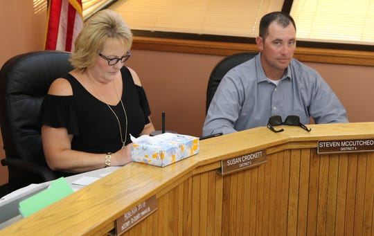 District 5 Eddy County Board of Commissioner Susan Crockett (left) and District 4 Commissioner Steve McCutcheon expressed support for a proposed nuclear waste site near Carlsbad.