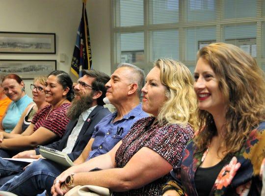 Representatives from Picacho Peak Brewing and Alamogordo MainStreet at the regular Alamogordo City Commission meeting June 25