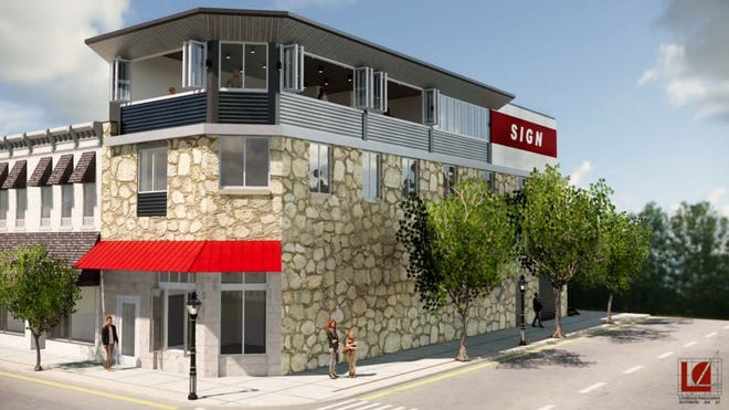 A rendering of what the building at 135 E. Lake could look like after the renovations.
