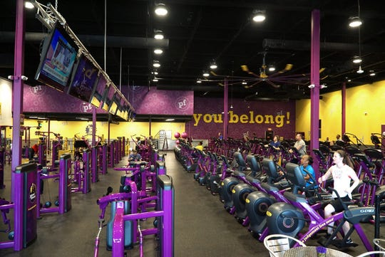 Planet Fitness' main room with its various cardio and muscle toning machines.