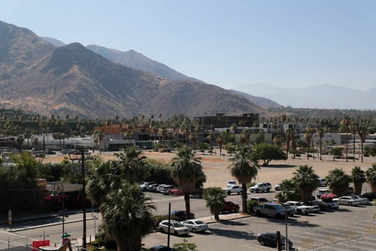 Land for a new state-of-the-art privately financed sports and entertainment arena sits on Agua Caliente land in downtown Palm Springs, Calif. on Wednesday, June 26, 2019.