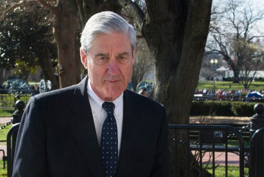Special counsel Robert Mueller walks past the White House, after attending St. John's Episcopal Church for morning services, in Washington on March 24, 2019.