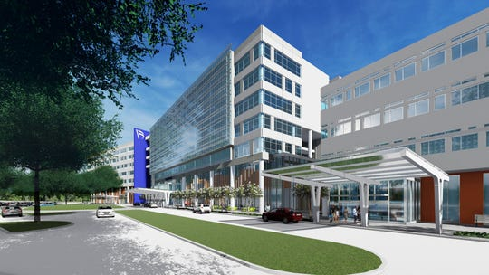 Baptist Hospital is building a new $550 million campus at Interstate 110 and Brent Lane. The new campus will be a full-scale, 250-bed hospital with medical offices. It is expected to open in summer 2023.