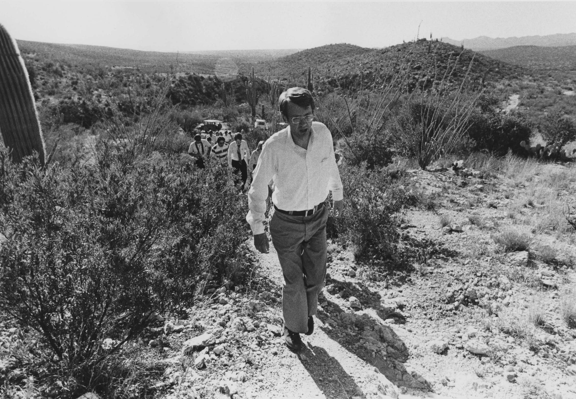Gov. Bruce Babbitt hikes in in Catalina State Park in this file photo from March 17, 1978.