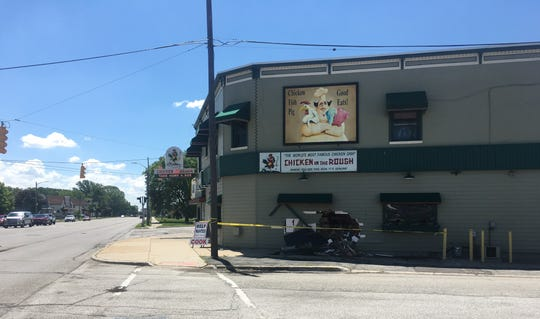A car crash closed Palms Krystal Bar & Grill/Chicken in the Rough on Wednesday.